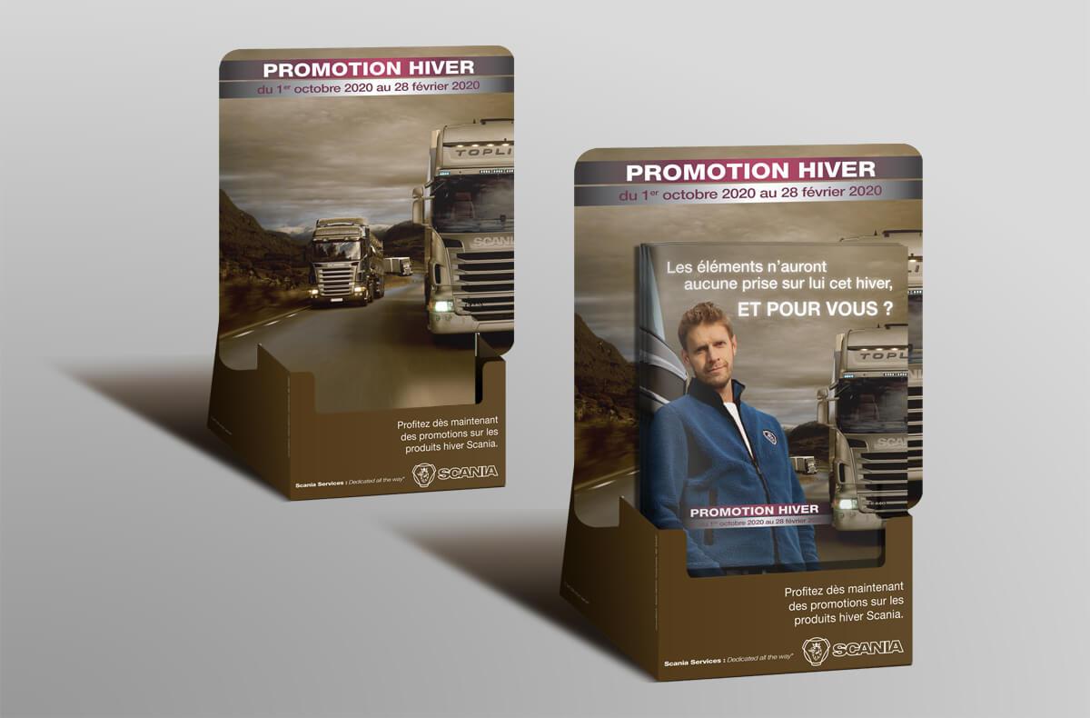 Scania - Campagne hiver - Catalogue et PLV