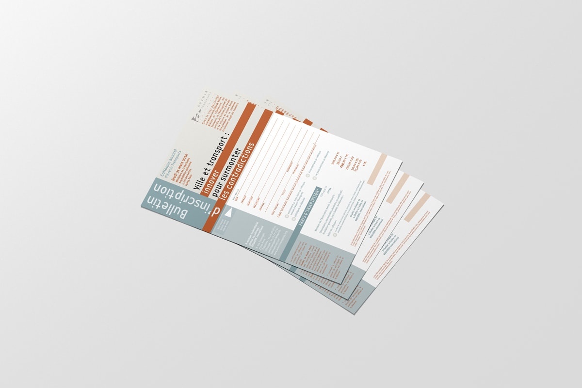 Avenir et transport - Bulletin d'inscription