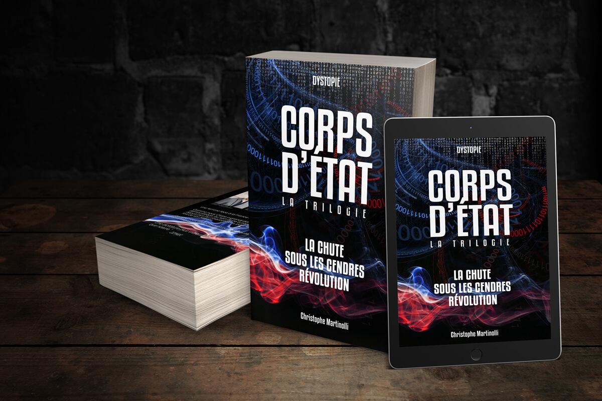 """Couverture de la trilogie """"Corps d'État"""" de Christophe Martinolli"""