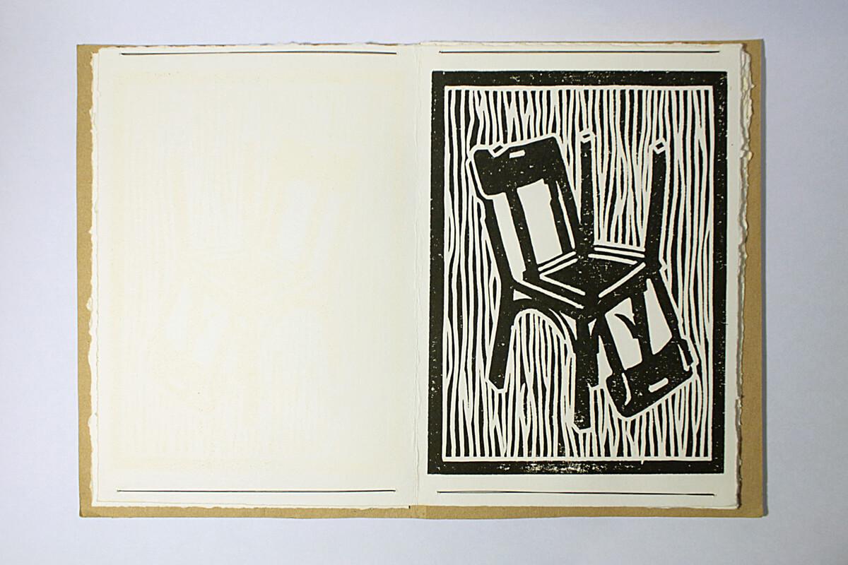 Livre Chaises (version imprimé encre noire) - Travail personnel