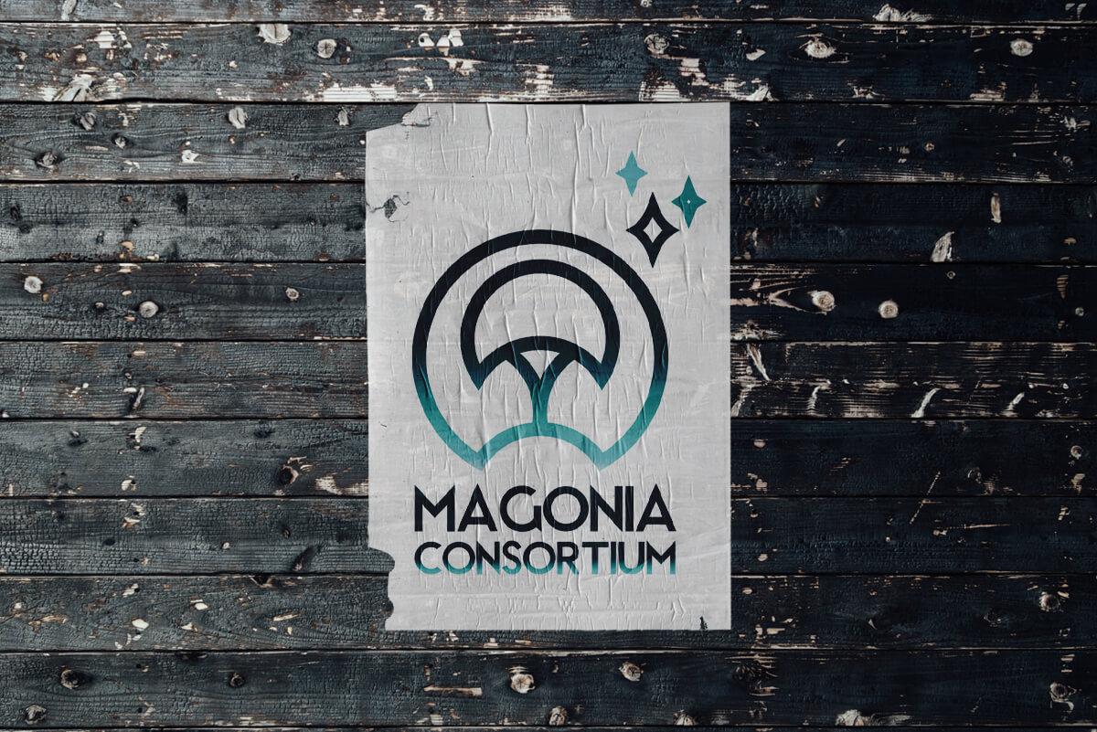 """Logo Magonia de l'univers """"Après l'effondrement"""" de Christophe Martinolli"""