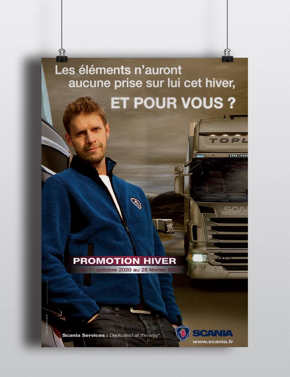 Scania - Campagne hiver - Affiche