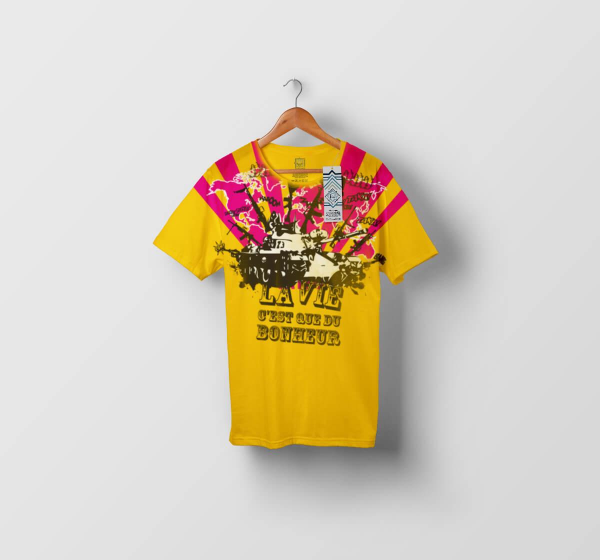T-shirt La vie c'est que du bonheur