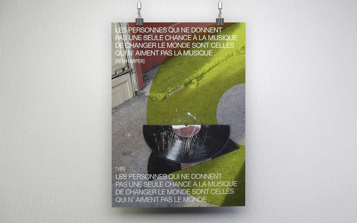 Affiche Breaking Disk - Travail personnel