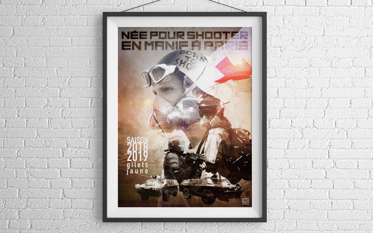 Affiche Née pour shooter - Travail personnel